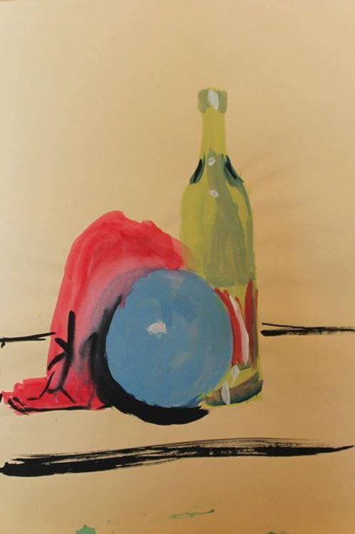 """""""Natura silente"""" (1993); acrilico su carta, 48x33 cm"""