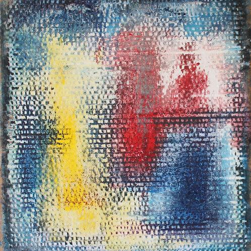 Vibrazioni, gessetti su cartoncino, 36x32 cm
