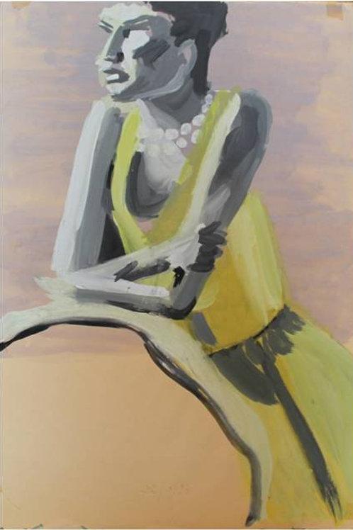 Margy (1993); carboncino su carta, 48x33 cm
