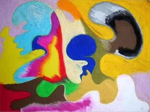 Integrità (2008); pastelli ad olio su carta 50x70 cm