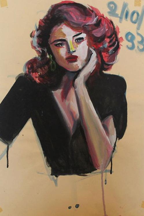 Sharon (1993); acrilico su carta, 48x33 cm