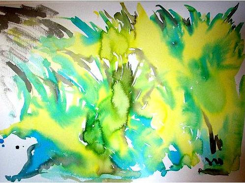"""""""Brasile"""" (2008); acrilico su carta, 50x70 cm"""