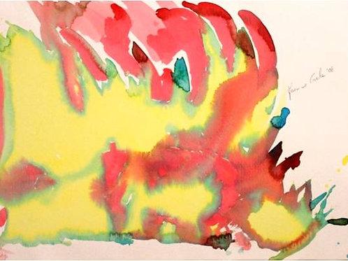 Rinoceronte (2008); acrilico su carta 40x30 cm