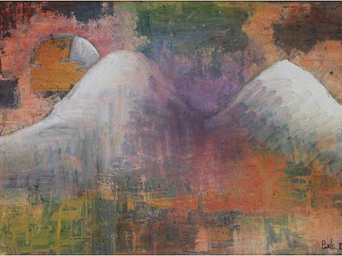 """""""Montagne""""(1997); olio su tela, 50x70 cm"""