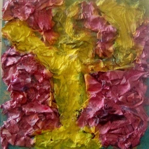 Pagliaccio (2006/08); cartapesta su tavola, 23x24 cm