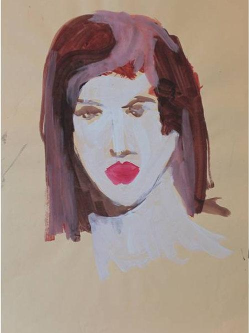 Sara (1993);  acrilico su carta, 48x33 cm