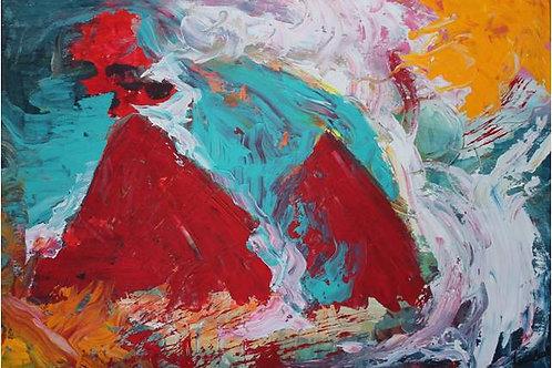"""Montagne""(1997); acrilico su tela, 50x70 cm"