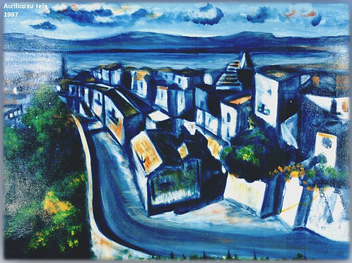 """""""Trebisacce"""" (1997); acrilico su tela,50x60 cm"""
