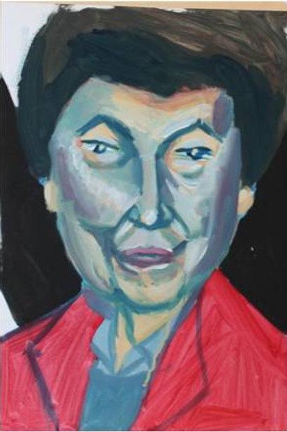 """""""Donna anziana"""" (1993); acrilico su carta, 33x48 cm"""