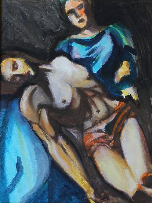 """""""La pietà"""" (1993/96); acrilico su tela, 50x40 cm"""
