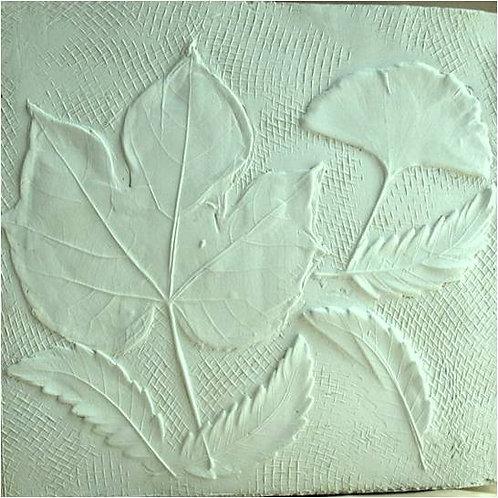 Foglie, calco in gesso (2006/08); 21x22 cm
