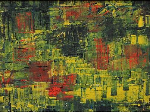 Intrusi rossi (1995/1997); olio su tela, 40x30 cm