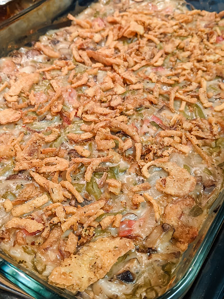 The BEST Upgraded Canned Green Bean Casserole