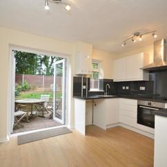 Modern kitchen with garden view
