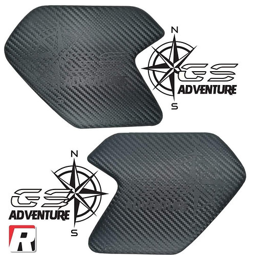 BMW R1200/1250GSA Knee pads embossed with 'compass' by RubbaTech
