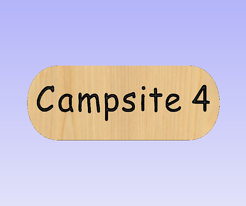 Campsite Number Sign