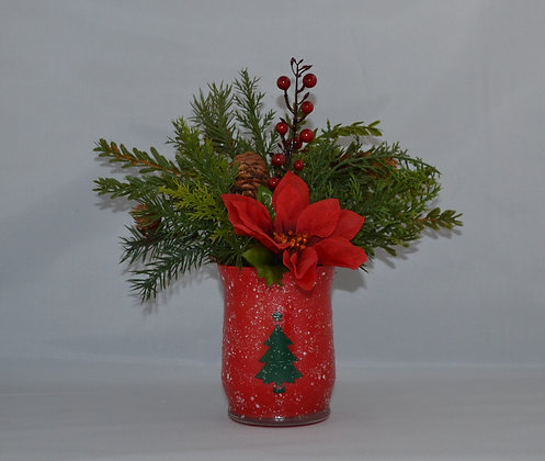 """Snow"" Dusted Christmas Tree Vase"
