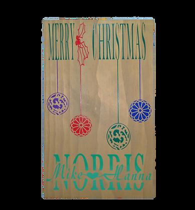 Christmas Ornament Name Sign