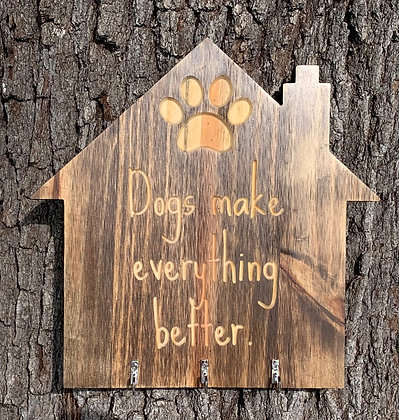 Dog House Sign with Hooks