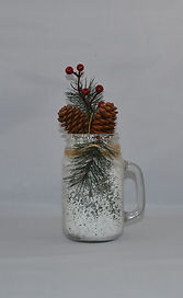Christmas Mason Jar with Pine