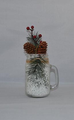 Snow Filled Christmas Mason Jar