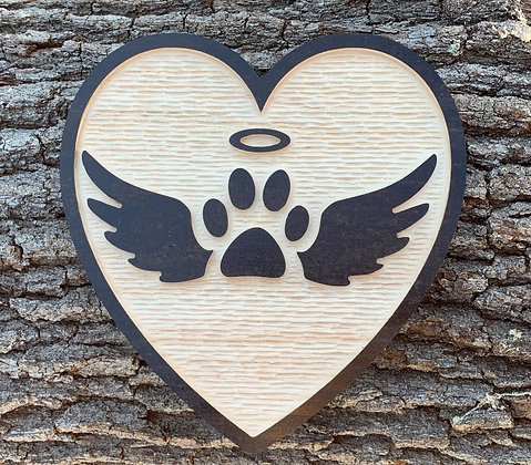 Paw Print with Angel Wings