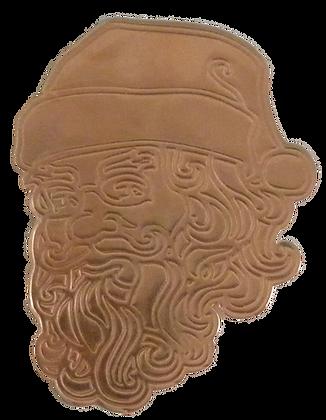 Copper Santa Face Ornament