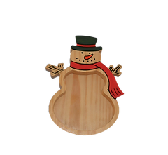 Wood, Snowman, Tray, Hand Finished, Holiday