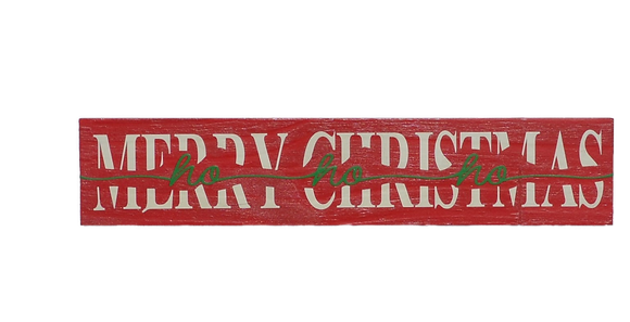 Merry Christmas with Cut Out Sign