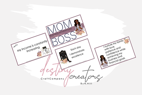 Mom Boss Affirmation Cards by N. Hill