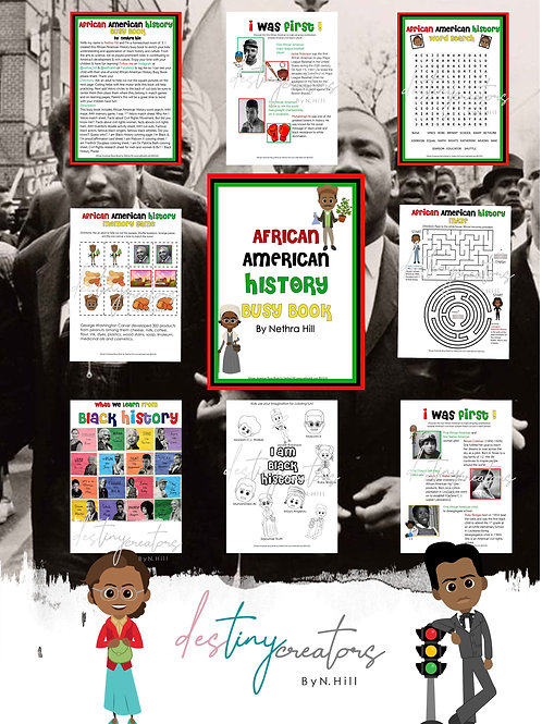 African American History Learning Busy Book by Nethra Hill
