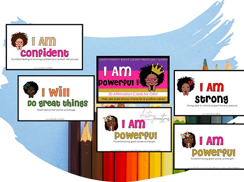 I Am Powerful  Affirmation Cards by Nethra Hill