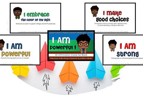I Am Powerful Boy Affirmation Cards by N. Hill