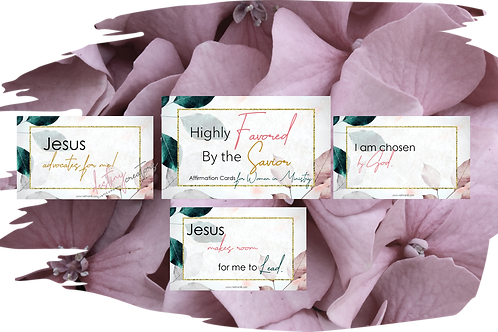 Affirmation Cards for Women in Ministry by N. Hill