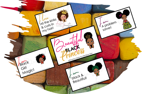 Beautiful Black Princess Affirmation Cards by N. Hill