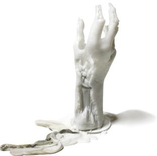 last hand candle. 点灯後