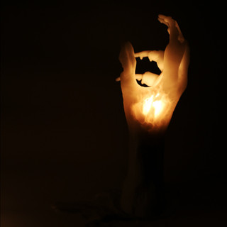 last hand candle. 点灯時