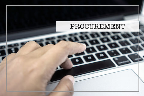 Business Concept with PROCUREMENT wording