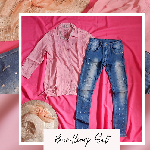 Set Exit Girl Pink Shirt x D&S Jeans Pant