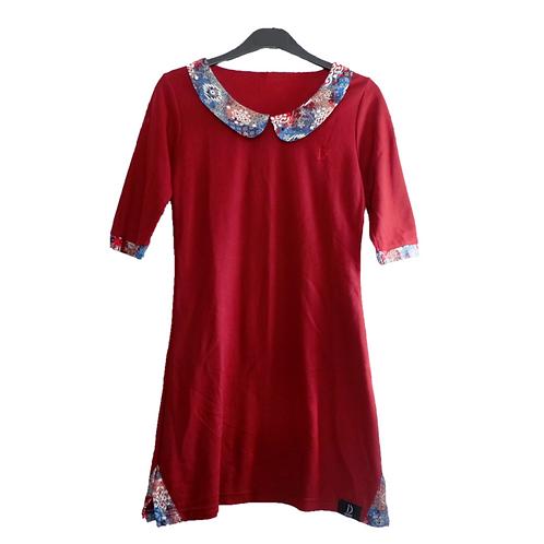 Dignify Pollo Batik Dress - Maroon