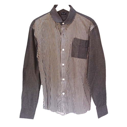 Manjze Stripe Man Shirt - Black & White