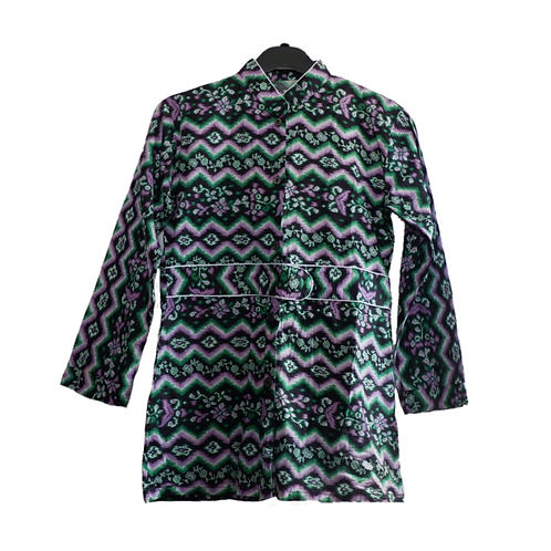 Batik Top Long Sleeve - Green & Black