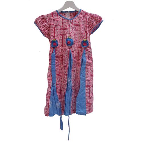 Abstrak Batik Dress - Pink & Blue