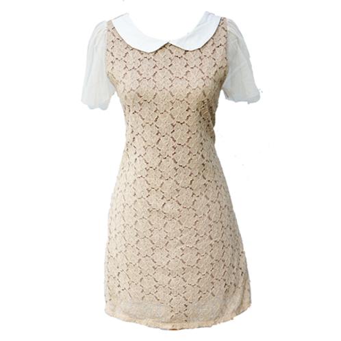 Brown Brukat Dress