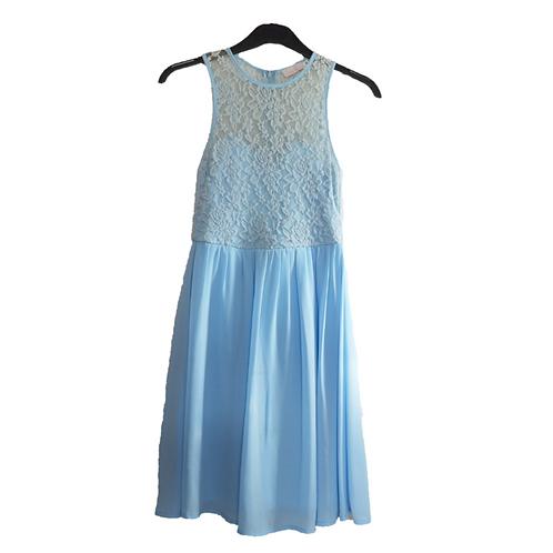 Love Benito Half Lace Blue Dress