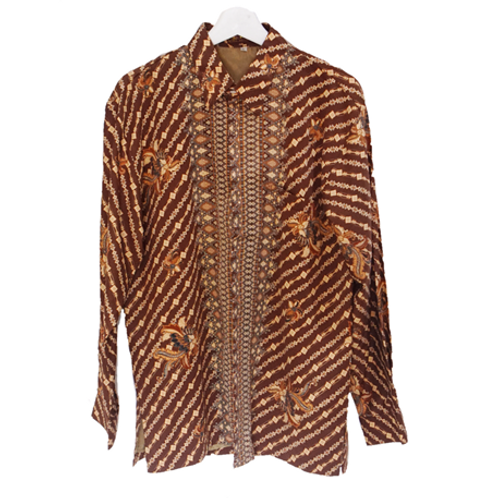 Priyadi Batik Pria lengan panjang - Brown