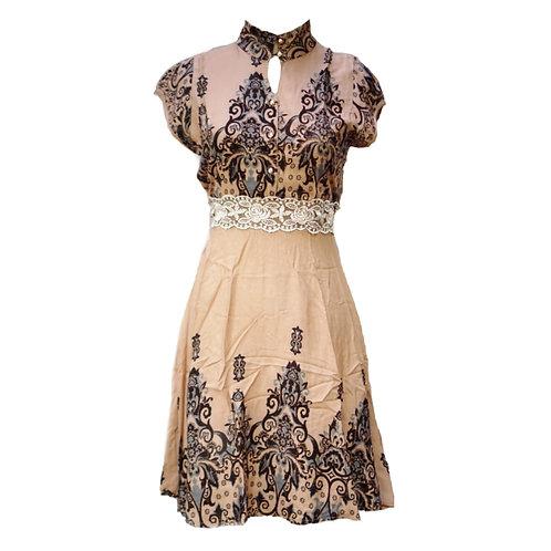 Batik Dress Coklat Susu