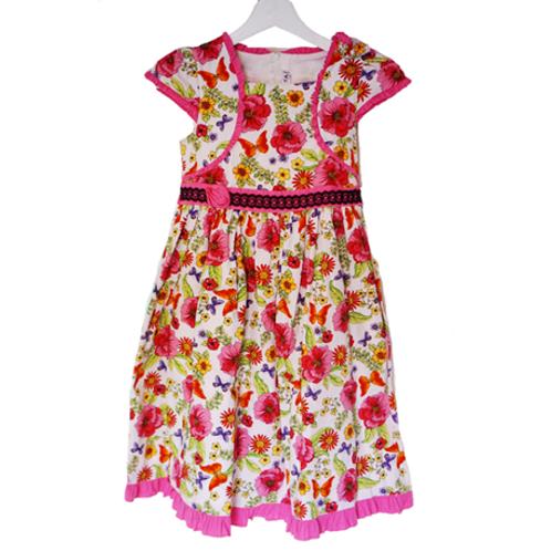 Donita Flower Kid Dress - Pink