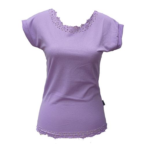 Purple Laser Cut Shirt
