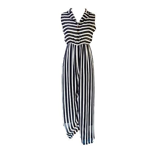 Black & White Stripe Maxi Dress